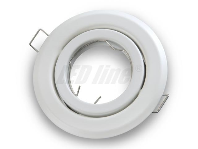 led einbaustrahler led einbauspot spot rund metall weiss f r 50mm led lampen gu10 fassung. Black Bedroom Furniture Sets. Home Design Ideas