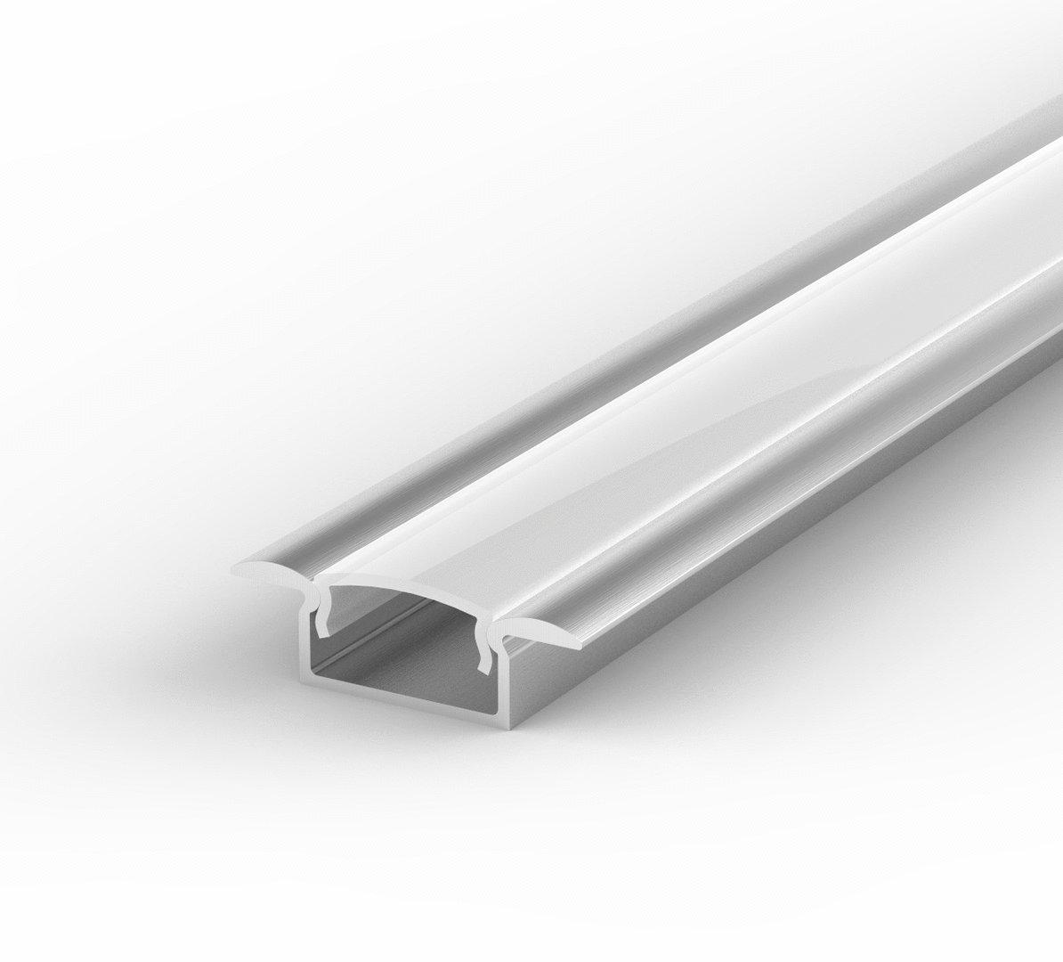 set led profil 100cm profil led f r led streifen aluminium led profil abdeckung lt6 milchig. Black Bedroom Furniture Sets. Home Design Ideas
