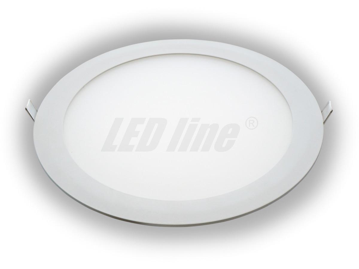 18w led panel rund deckenleuchte aufbauspot transformator warm neutral kaltweiss 230v. Black Bedroom Furniture Sets. Home Design Ideas