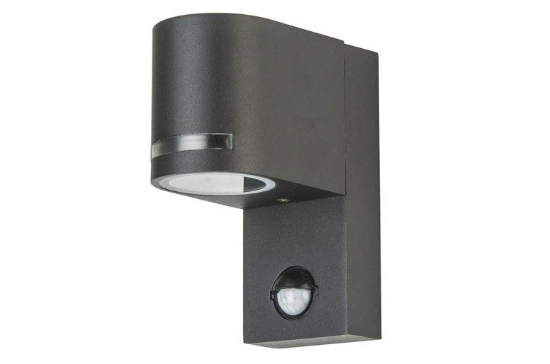 2 6w led au enwandlampe mit bewegungsmelder warm kaltweiss aluminium ip44 q13. Black Bedroom Furniture Sets. Home Design Ideas