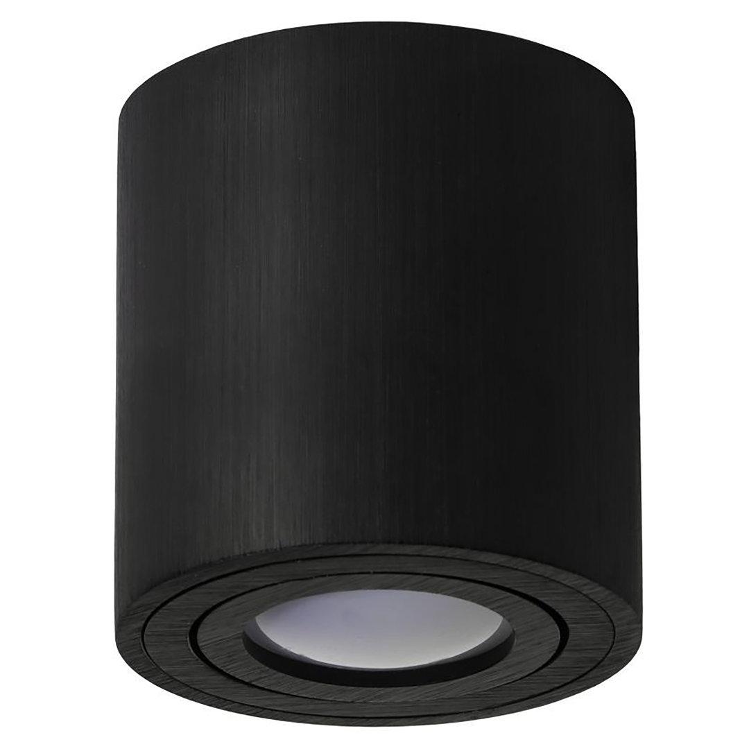 rund led aufbauspot 1x gu10 schwenkbar deckenaufbauleuchte venice. Black Bedroom Furniture Sets. Home Design Ideas