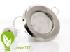 SET: Rund Einbauspot Metall Nickel/Satin + GU10 4W LED WARMWEISS/KALTWEISS