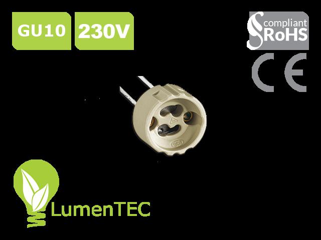 SET: Schwenkbar Rund Einbauspot Metall Gelb + GU10 4W LED WARMWEISS