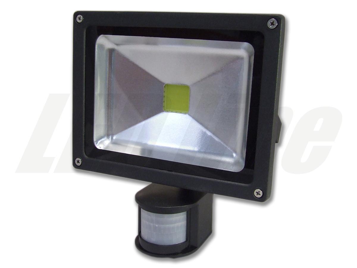 led strahler mit bewegungsmelder 20 watt kaltweiss 20w 1800 lumen ersetzt 200 watt 220 240v. Black Bedroom Furniture Sets. Home Design Ideas
