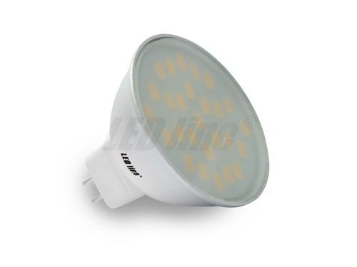 MR16 LED 5W, 27 NEU (5630) SMD LED 12V CCD 350LM, Warmweiss
