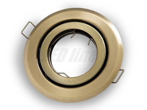 LED Einbaustrahler, LED Einbauspot Spot Rund Metall Patin für 50mm LED Lampen + GU10 Fassung