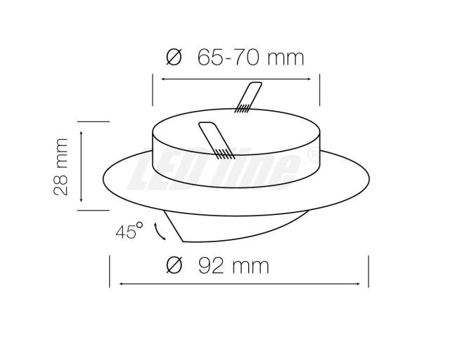 LED Einbaustrahler, LED Einbauspot Rund Aluminium Antiqe für 50mm LED Lampen + GU10 Fassung