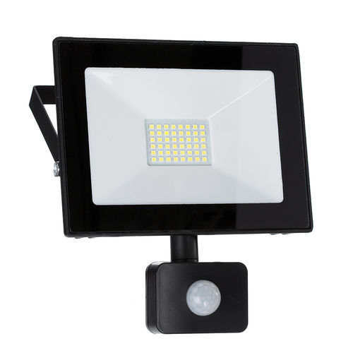 LED Strahler, LED Fluter, SLIM 30 Watt Warmweiss LED Flutlicht, 30W 2700 Lumen, 175-265V, PIR