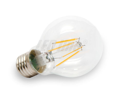 LED E27, LED lampe E27, E27 FILEMENT LED, 4x Filament LED, 420 Lumen 2700K Warmweiss CCD 230V