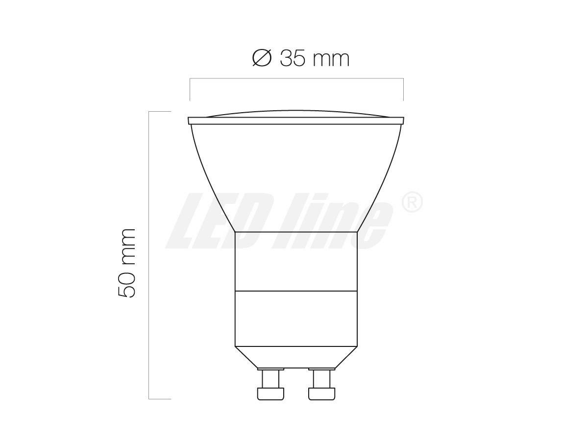 GU11 GU10 12SMD LED Lampe Leuchte Strahler 3W 12SMD (5630) LEDs 230V mit schutzglass Kaltweiß 180LM