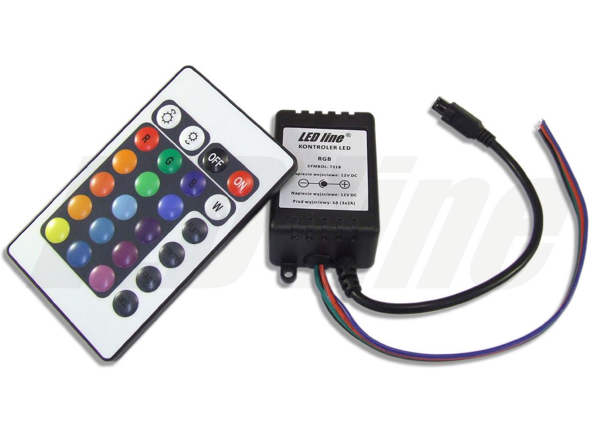 Remote Controller 24 Tasten Regler FB & Dimmer für RGB LED Strip Streifen 8A DC 12V-24V
