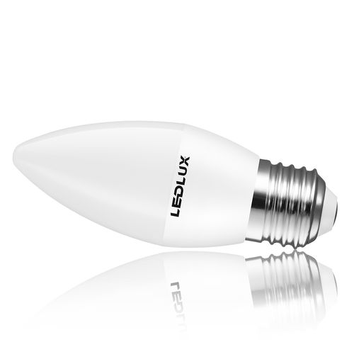 E27 LED 6W, LED E27 Kerzenform G37mm Warmweiss/Kaltweiss 3000K/6000K, 610LM Erstatz 50W