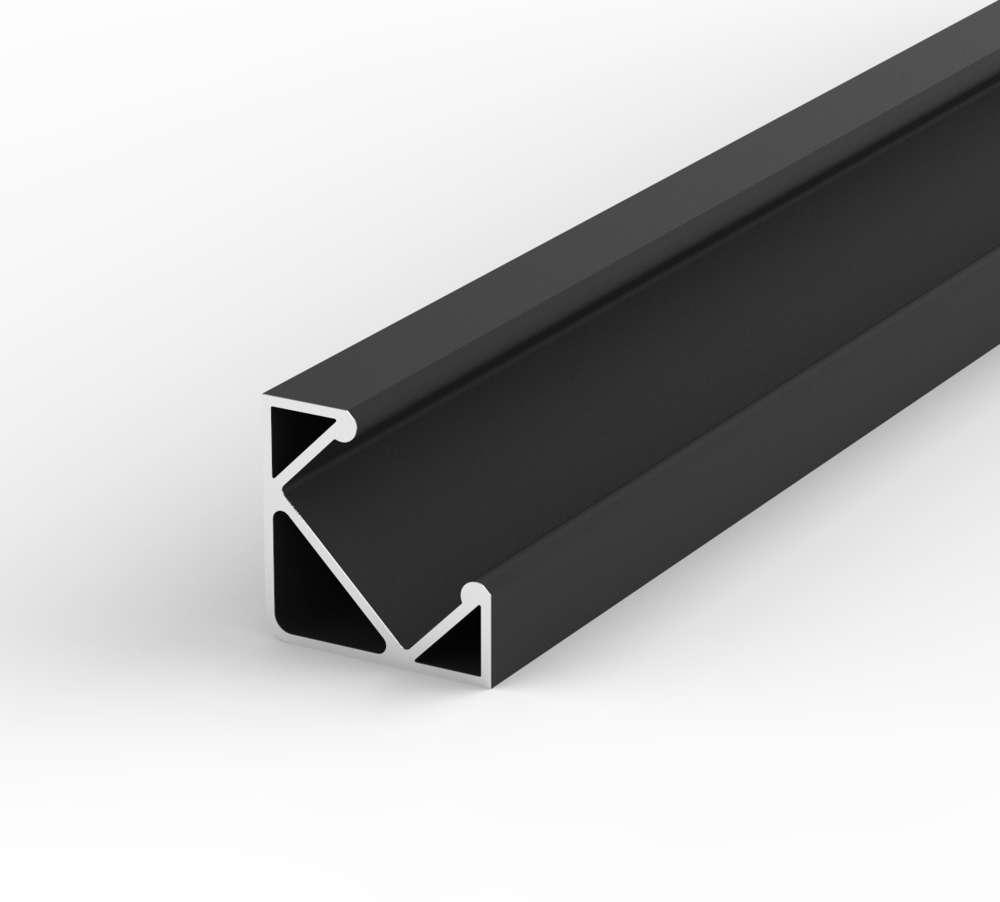 Aluminium Eckig LED Profil, 100cm 45° für 8-12mm LED Streifen ...