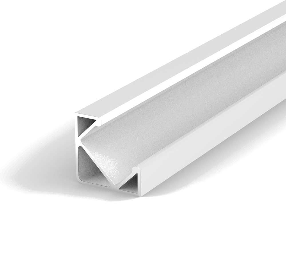 Aluminium Eckig LED Profil, 100cm 45° für 8-12mm LED Streifen, Weiss ...