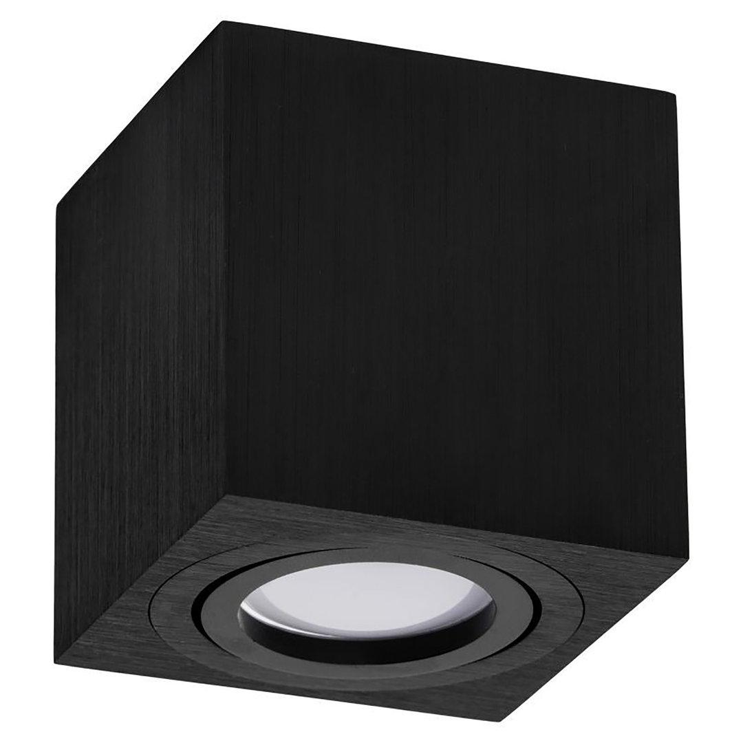led aufbauspot 1x gu10 schwenkbar deckenaufbauleuchte quadratisch cube. Black Bedroom Furniture Sets. Home Design Ideas